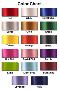 car bow color chart